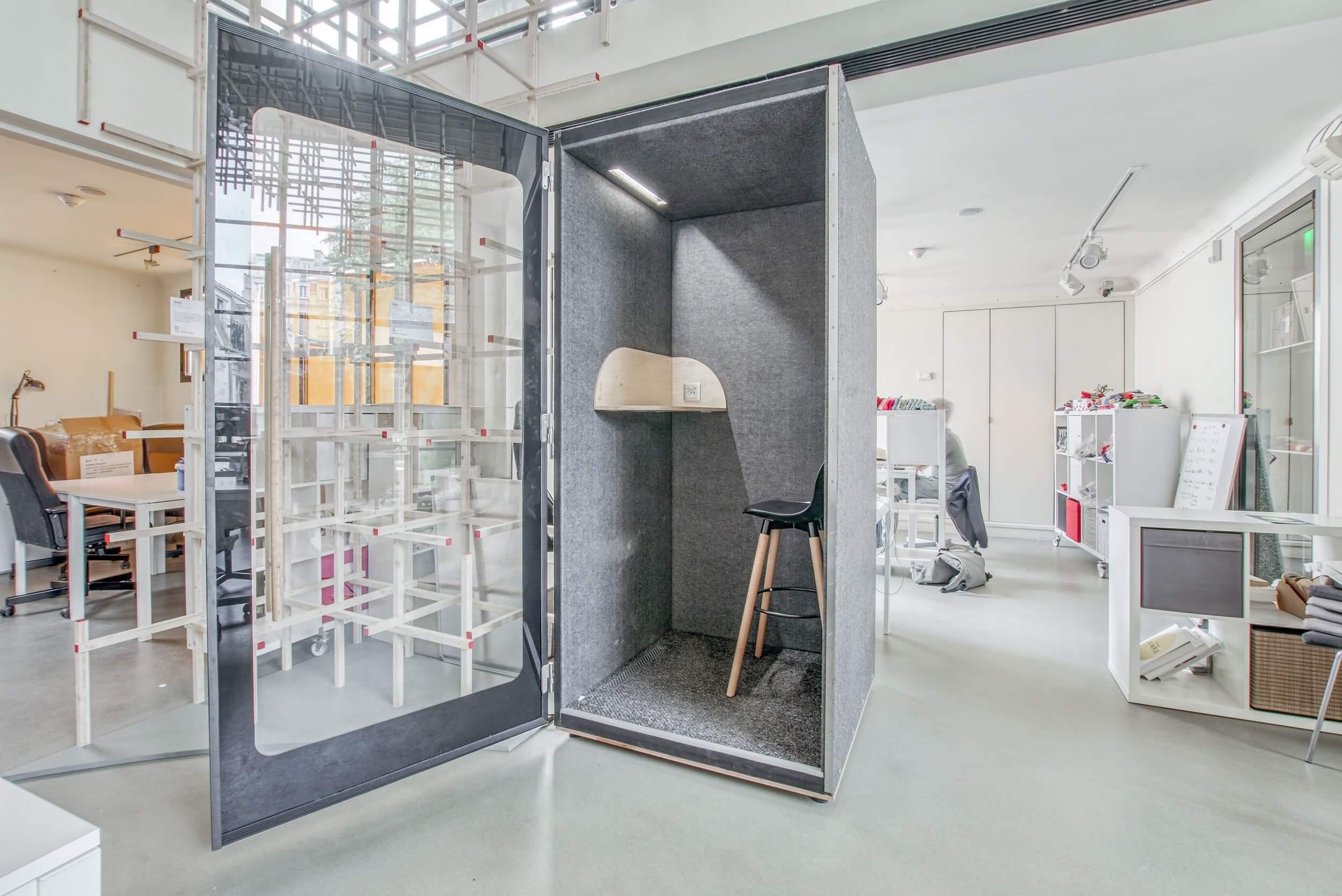 Cabine acoustique vitrée NINO