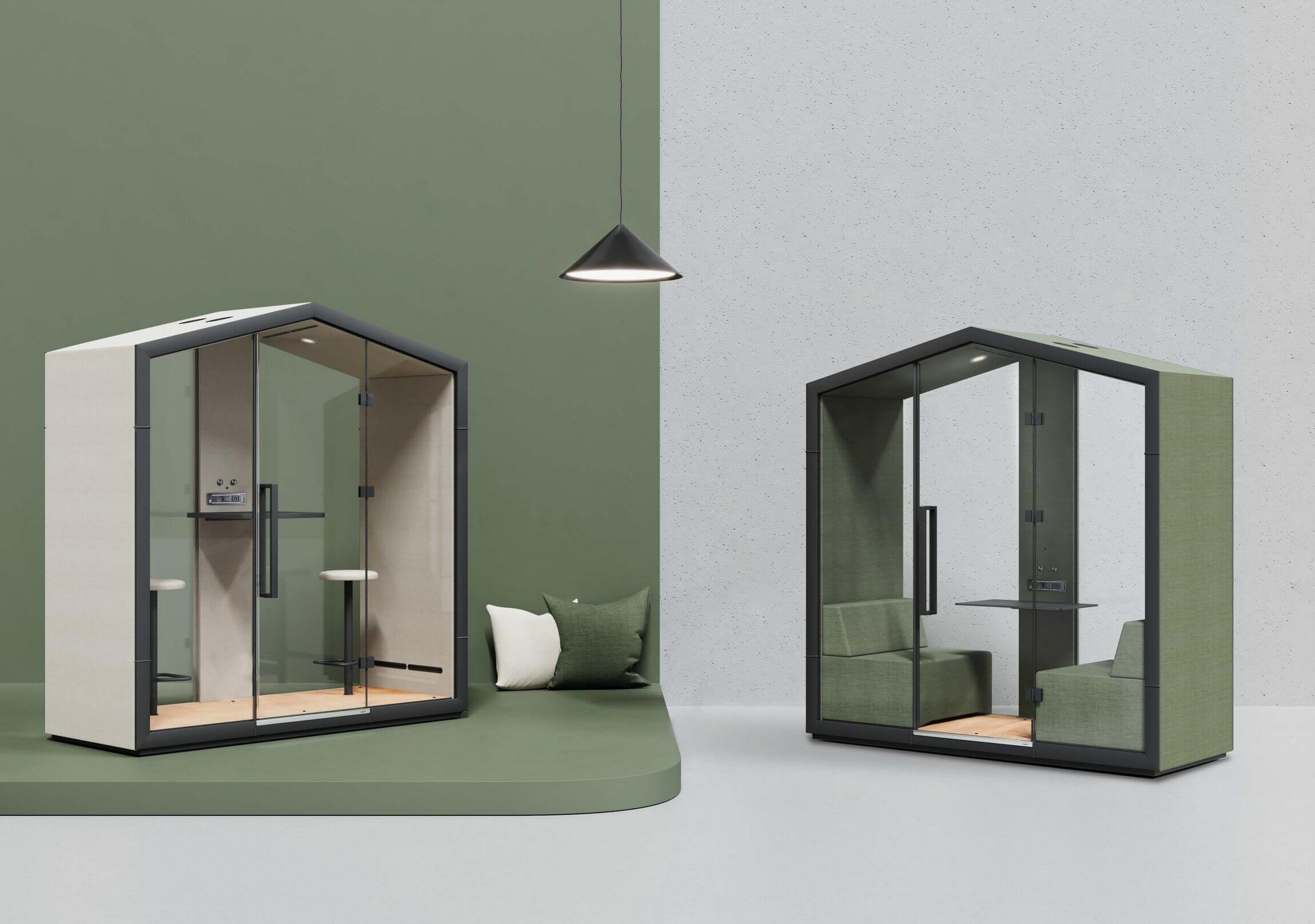 Cabine acoustique design HOME pour 2 personnes.