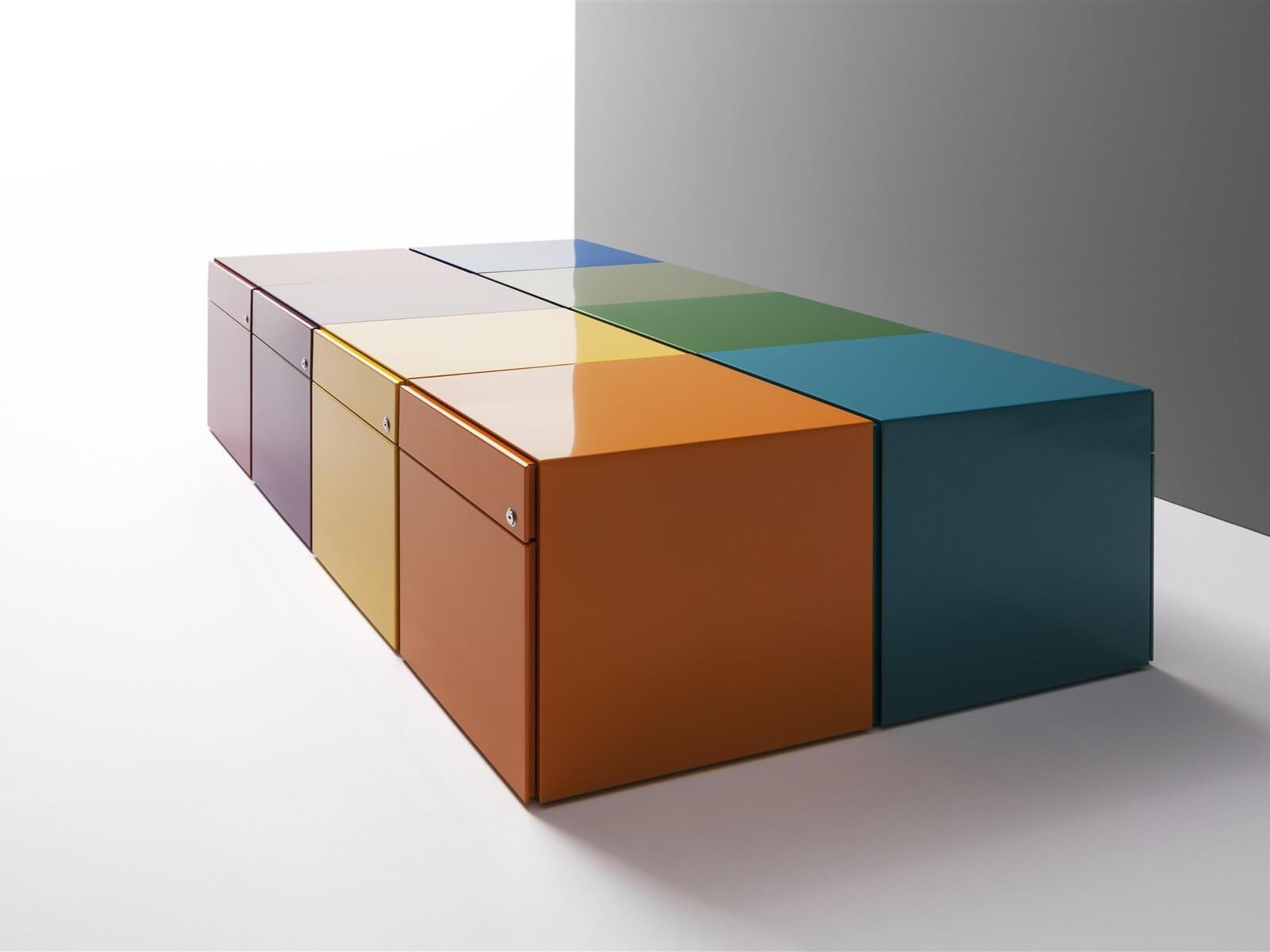 Caisson de bureau coloré NARROW