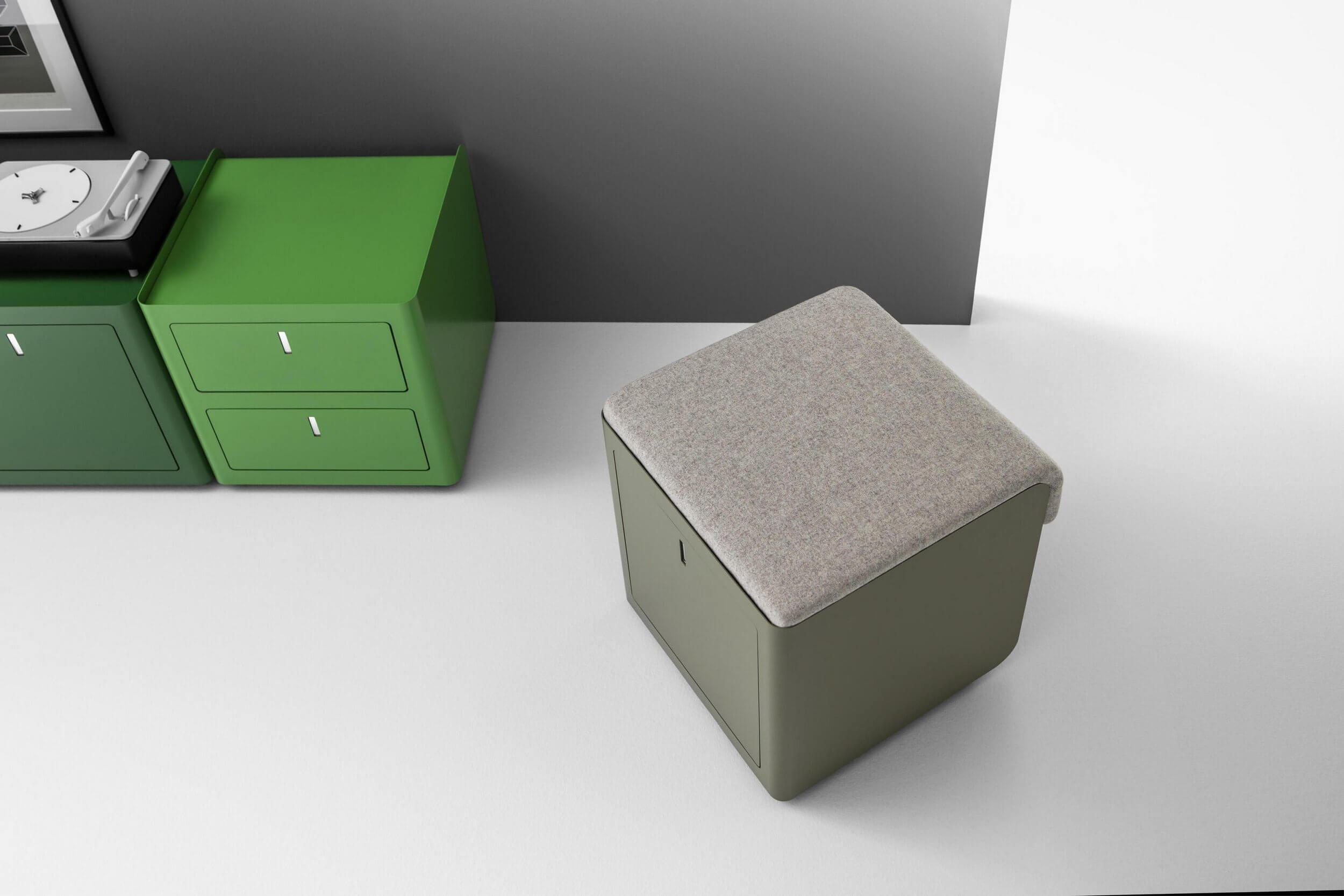 Caisson de bureau coloré et design