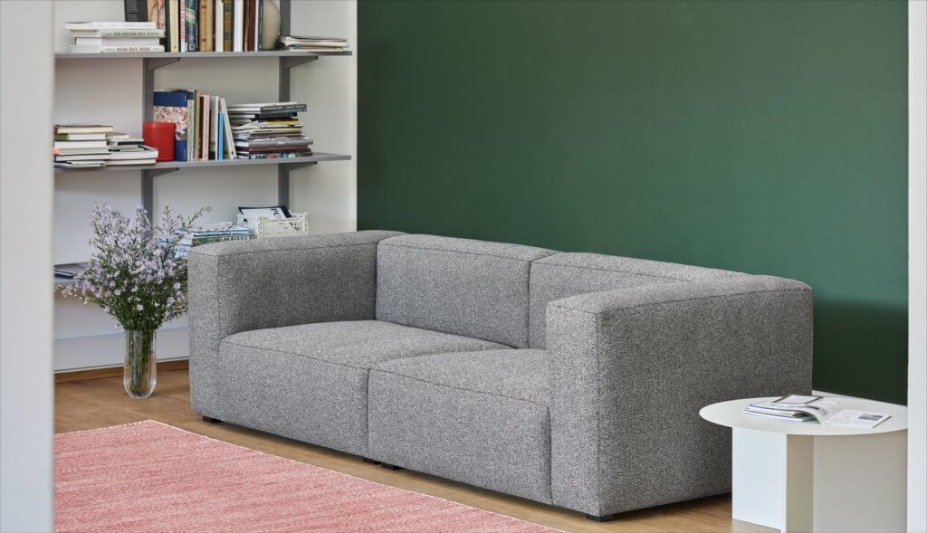 Sofa gris chiné design SOFT