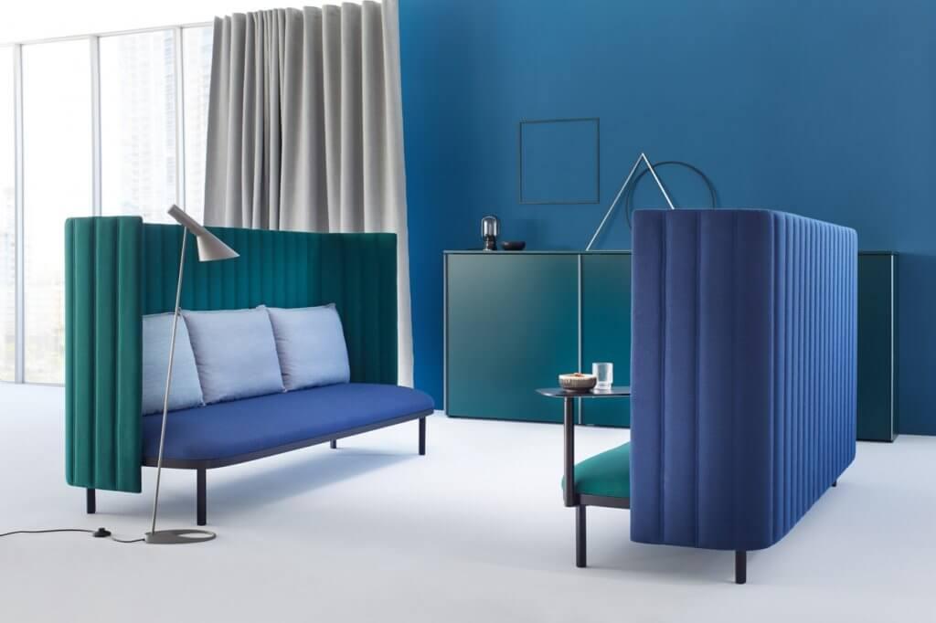 Sofa acoustique design pour espace de coworking