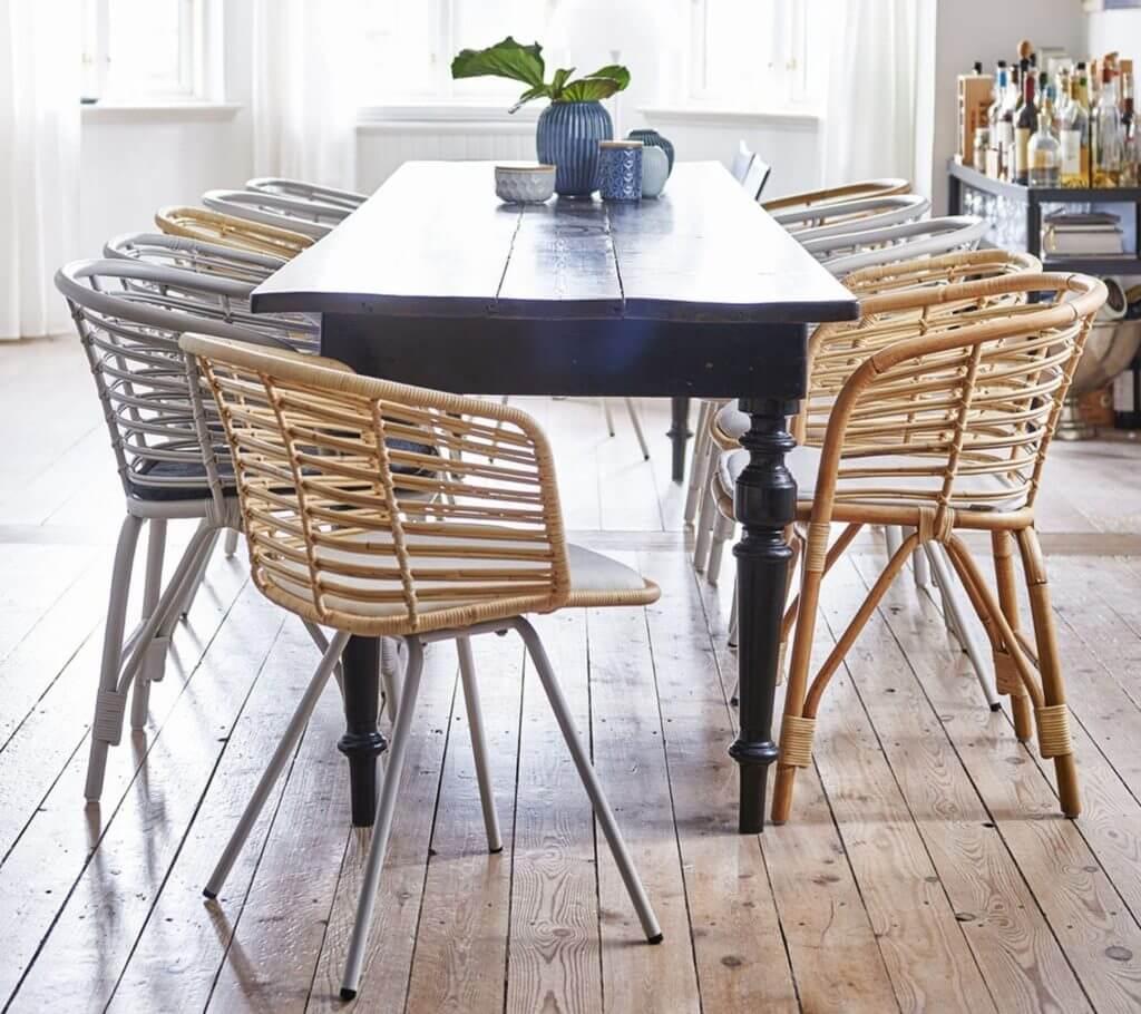 Chaise de réunion CANNE design vintage