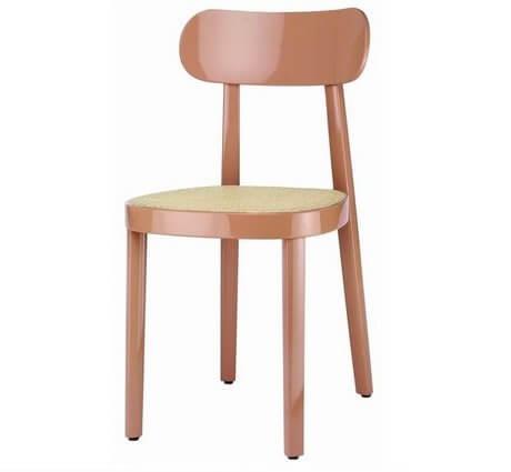 Chaise bois cafétéria design 118