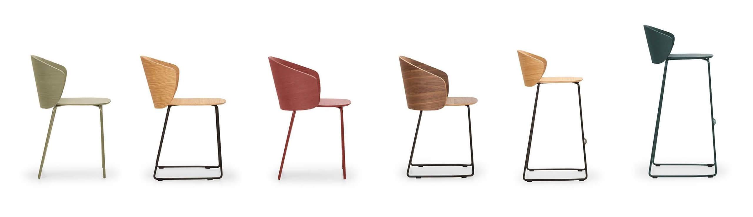Chaise en bois pour restaurant d'entreprise NOTWOOD