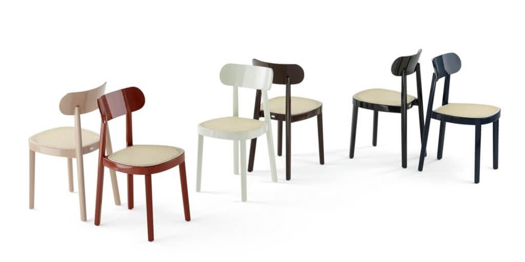 Chaise de réunion en bois 118 de Thonet