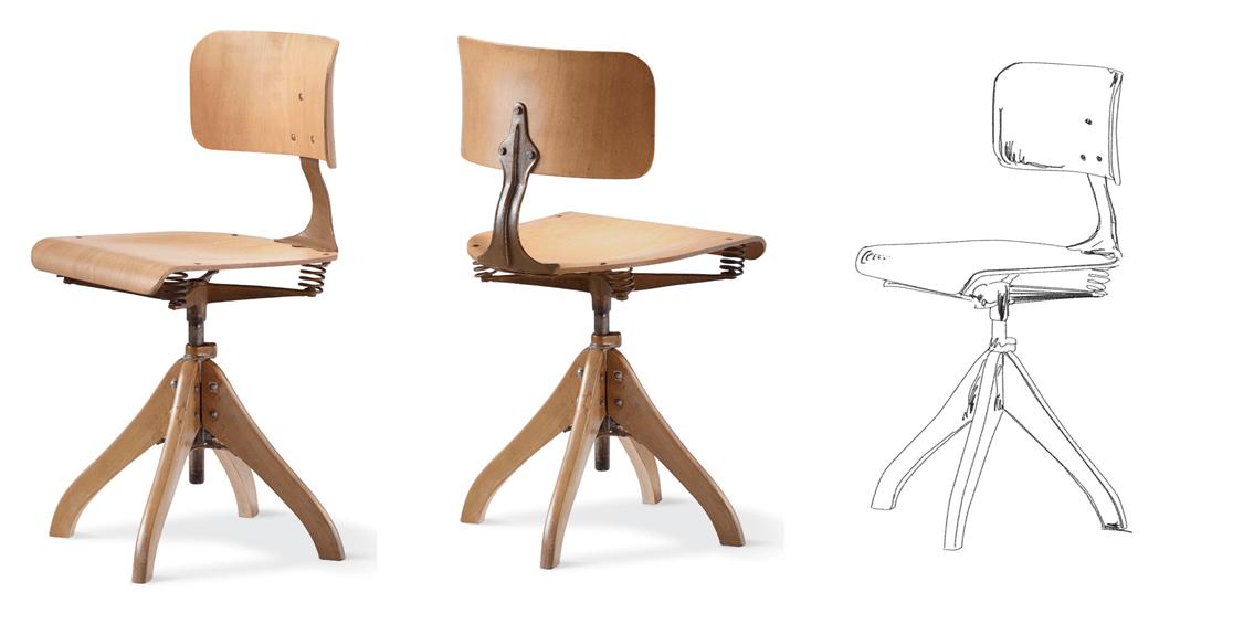 Chaise d'inspiration du fauteuil LIM.