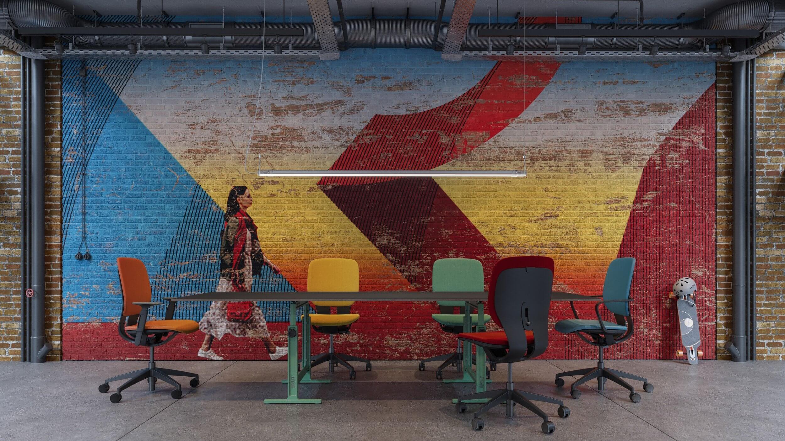 Chaise de bureau ergonomique design et colorée LIM.