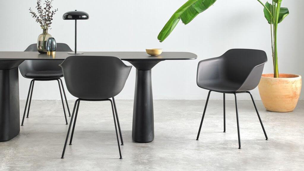 Fauteuil plastique design noir