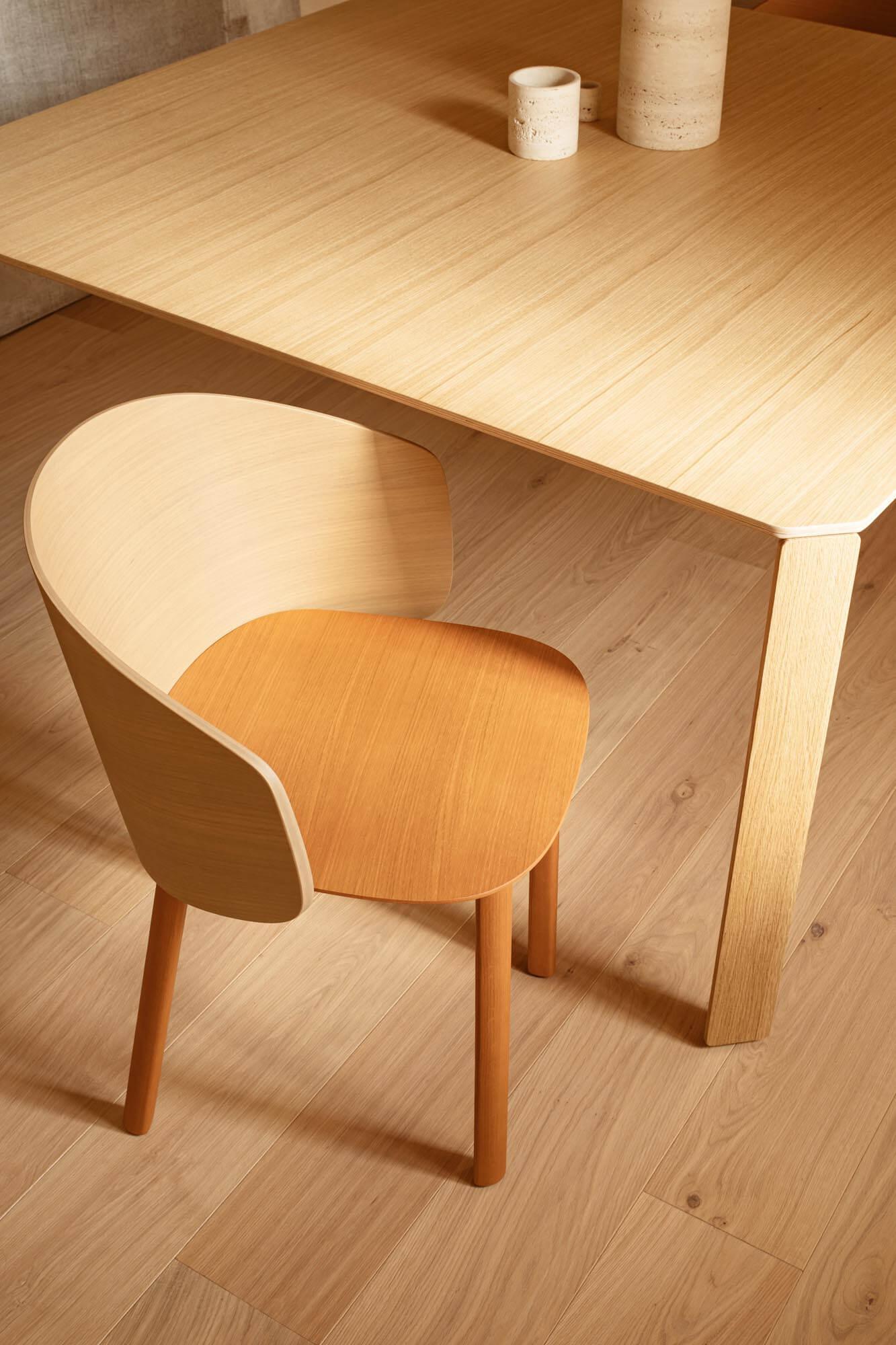 Chaise design bois moderne NOTWOOD