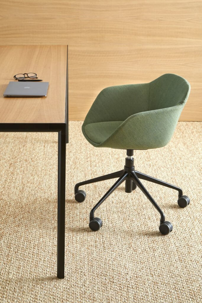 Chaise de bureau coque matelassée design