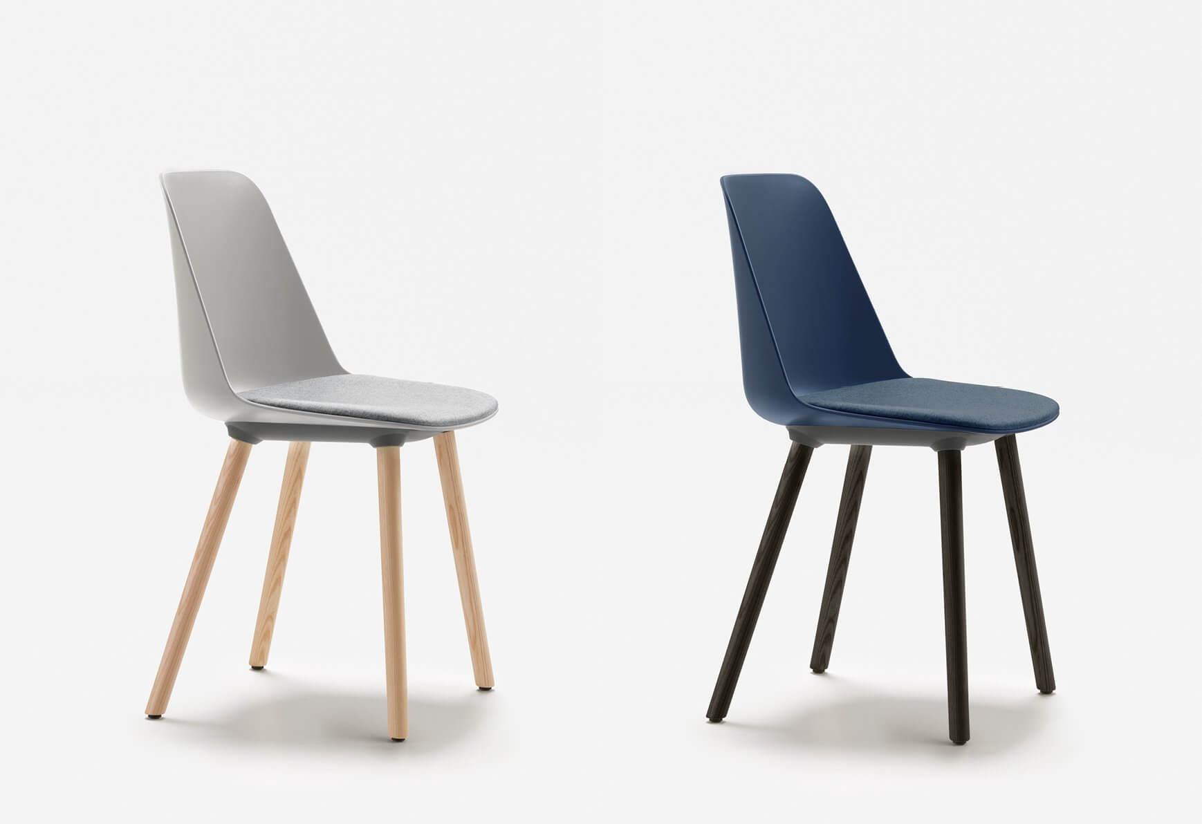 Chaise recyclée avec pieds en bois