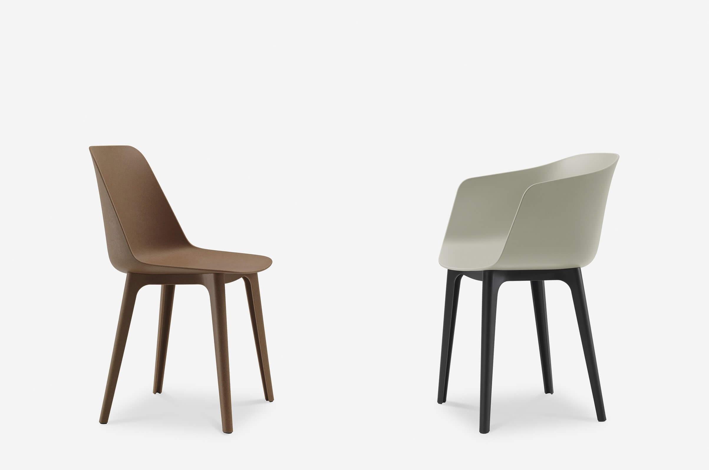 Chaise en plastique design recyclable