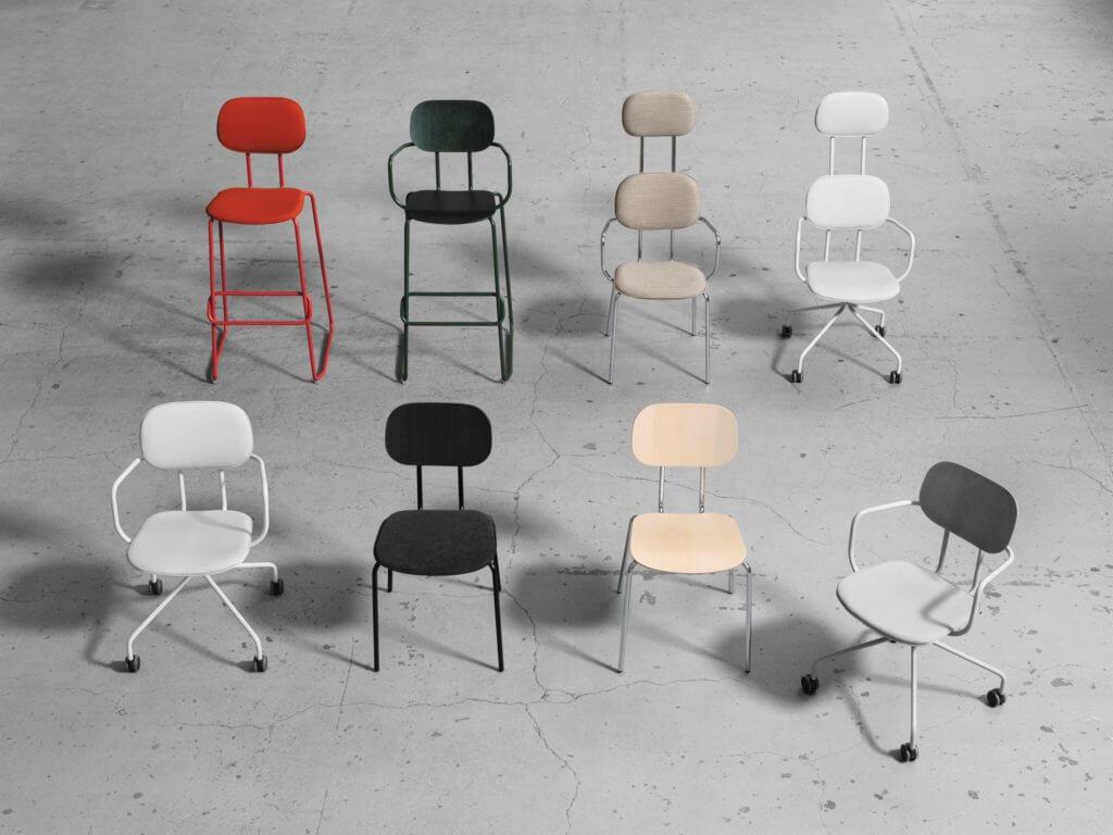 Chaise design haute SCHOOL