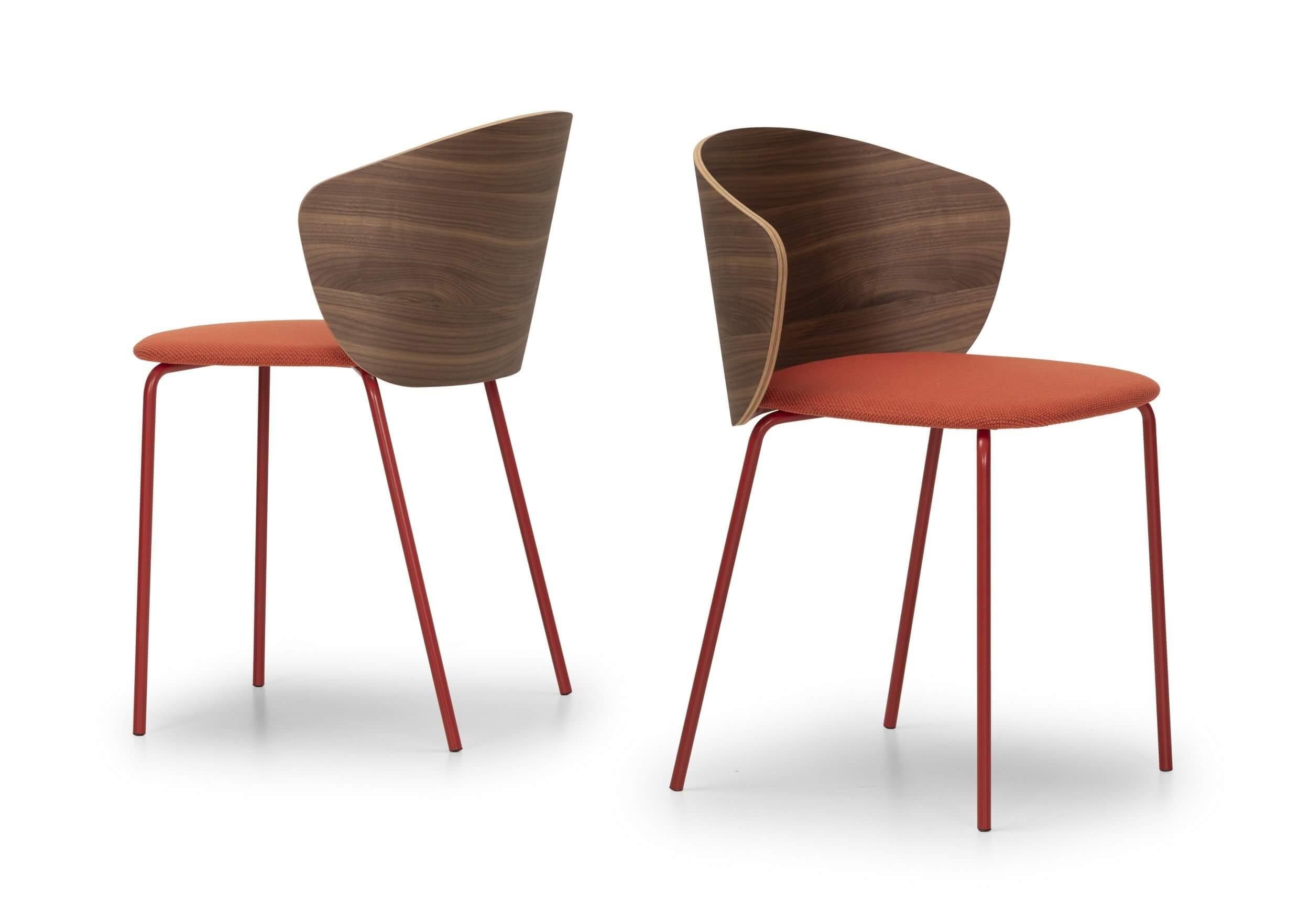 Chaise bois avec assise matelassée NOTWOOD