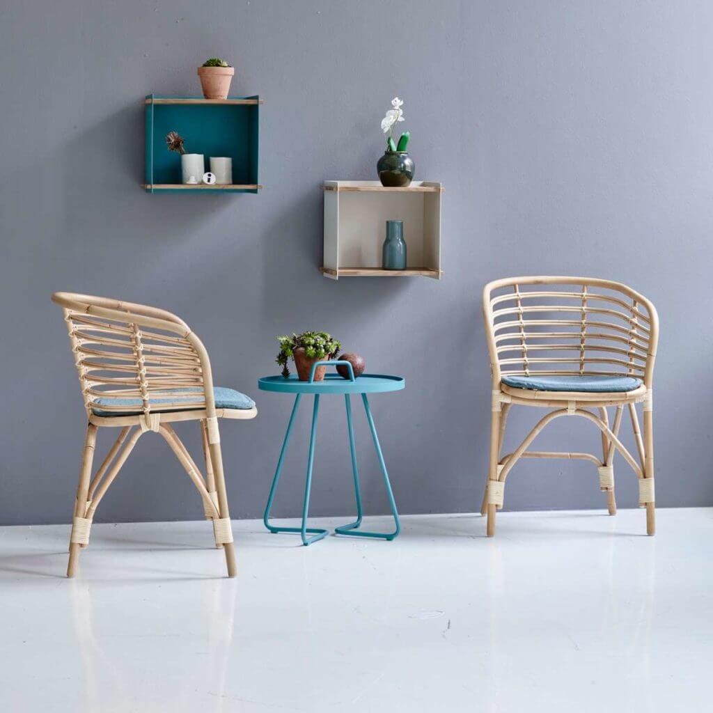 Chaise en rotin pour salle de réunion design