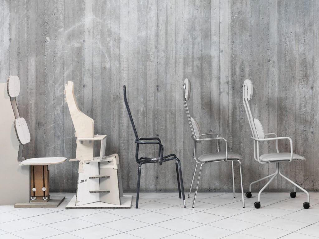 Chaise design avec têtière SCHOOL