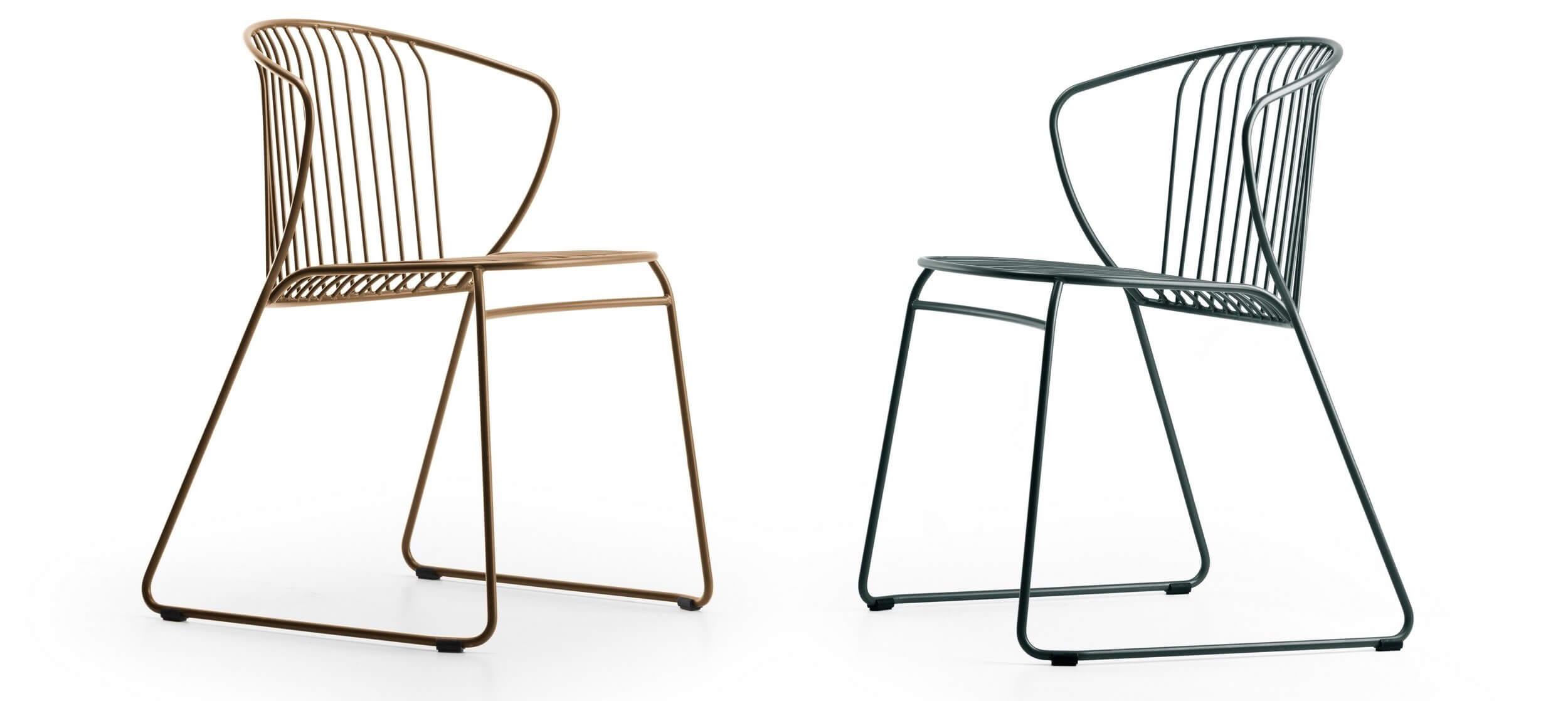 Chaise design en métal pour extérieur NOT OUT.