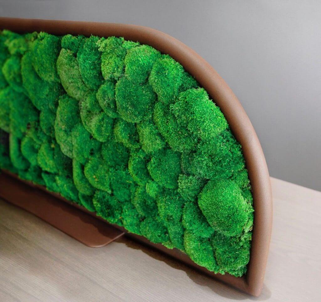 Cloison acoustique séparatrice de bureau avec plantes