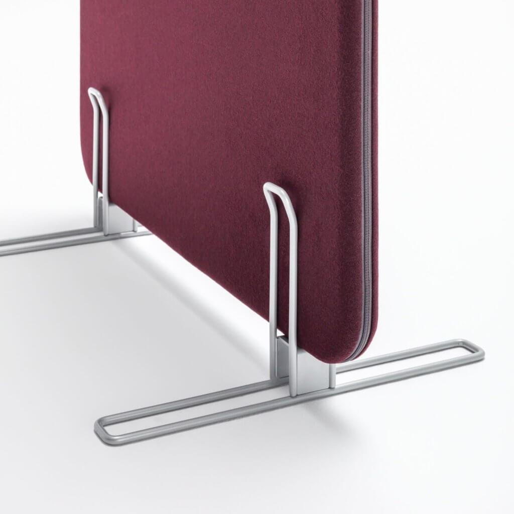 Pied stabilisateur du panneau séparateur acoustique
