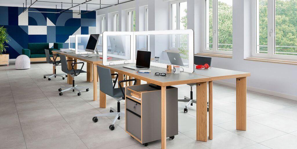 Cloison de bureau transparente et recyclable