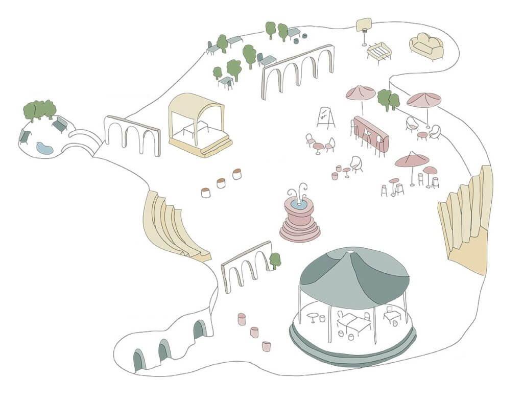 Aménager son open space comme un village grâce au mobilier