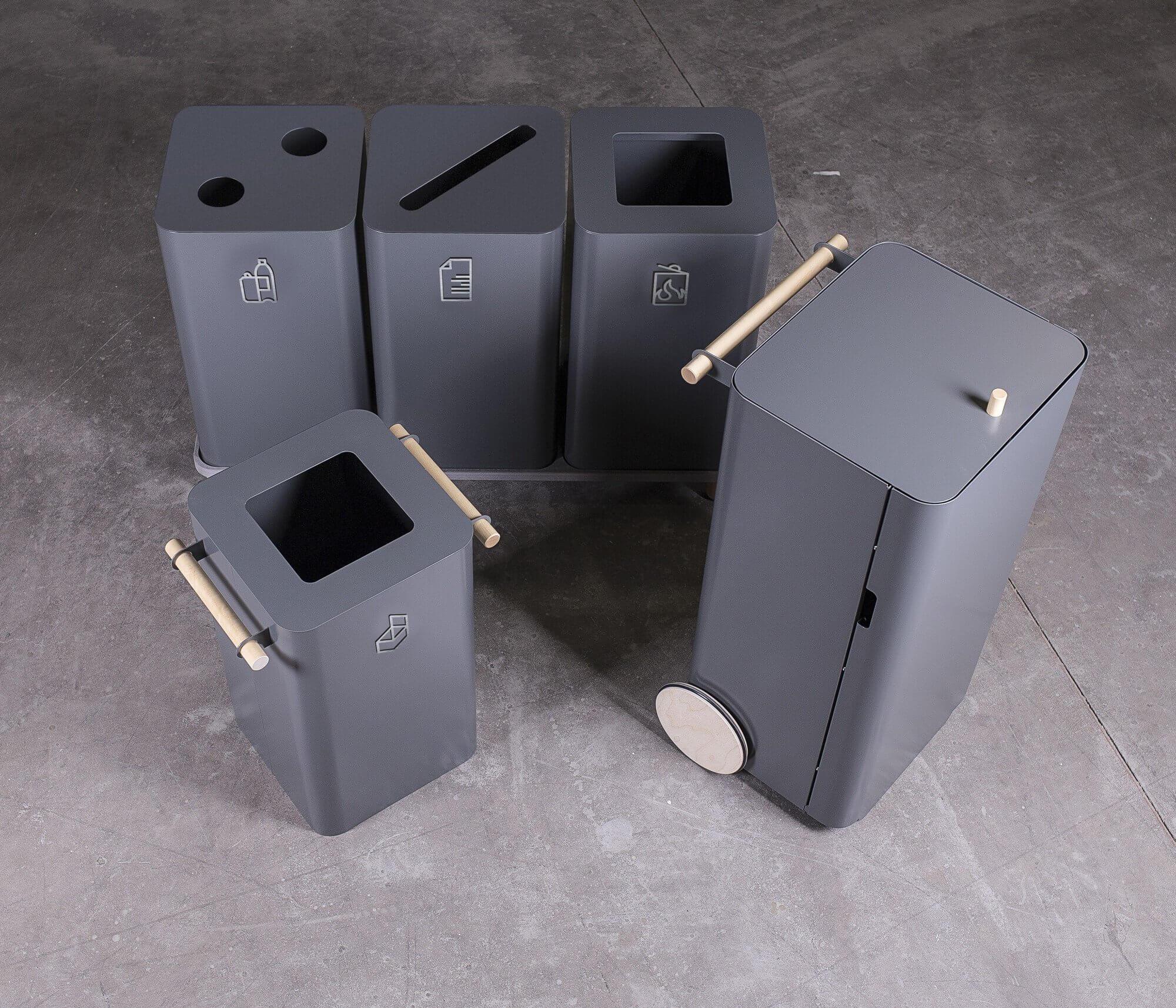 Corbeille de tri design ARK