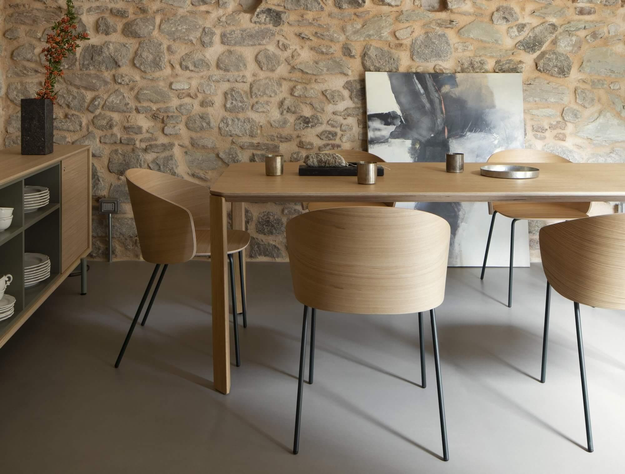 Chaise réunion et cafétéria design NOTWOOD.