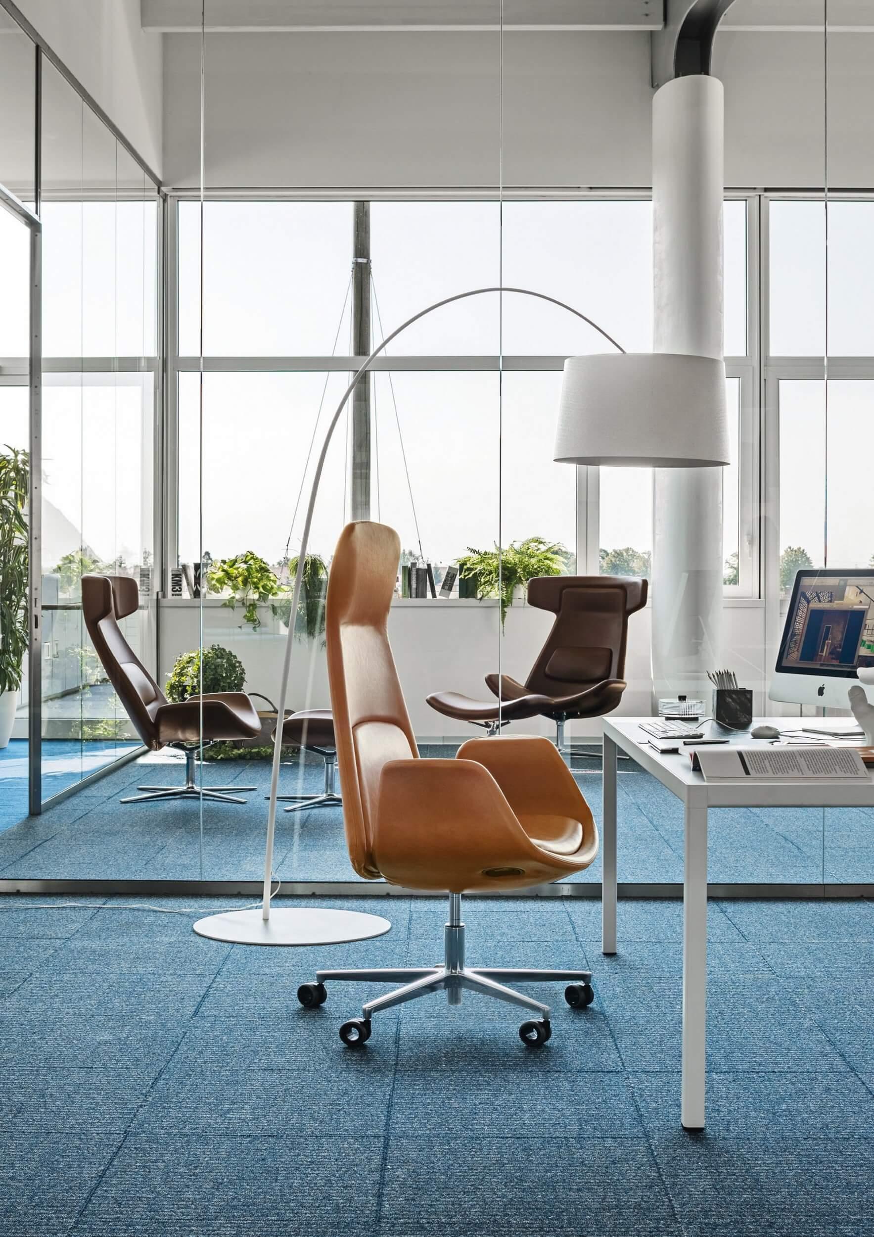 Fauteuil lounge design en cuir
