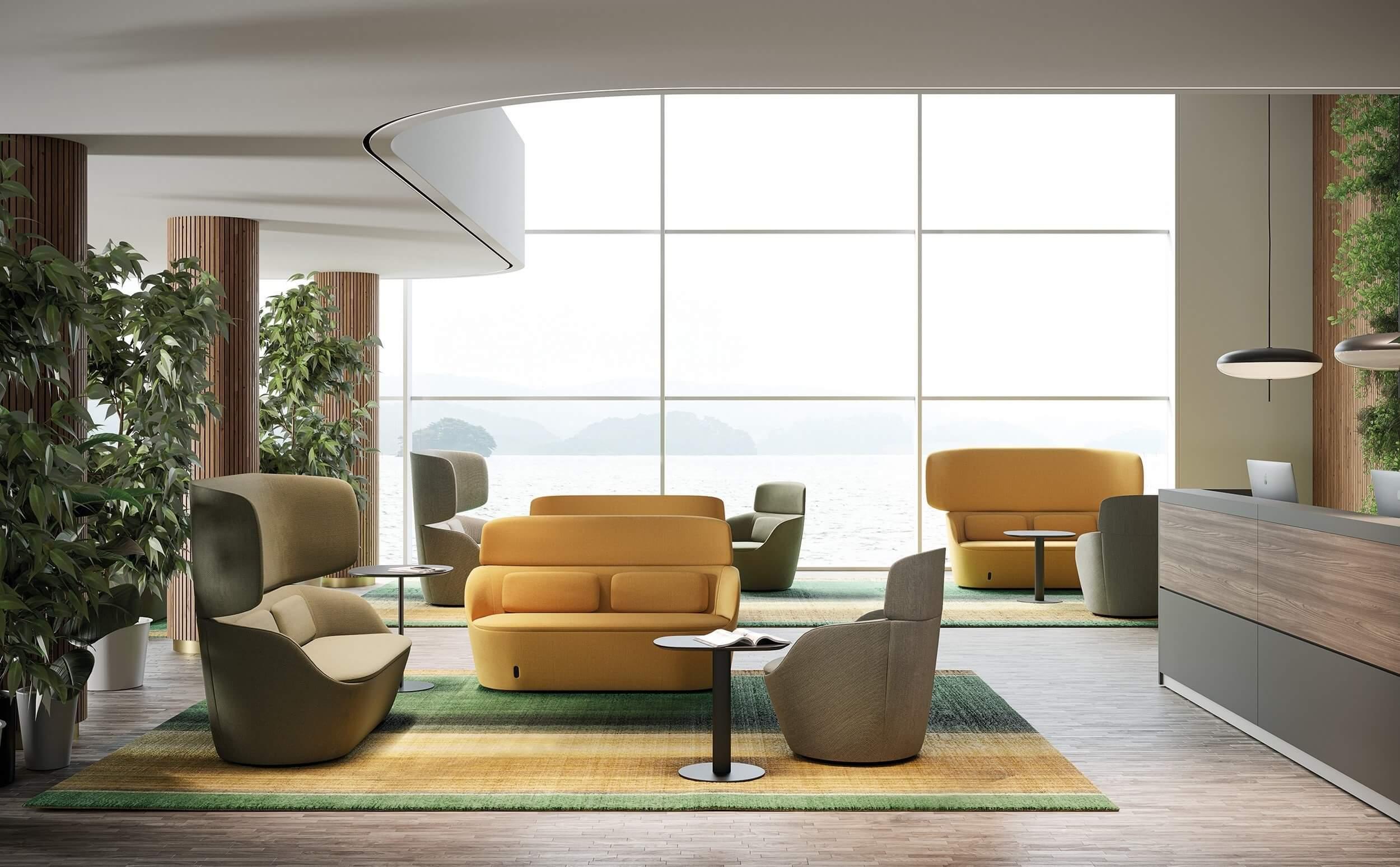 Sofa acoustique avec haut dossier RAF.