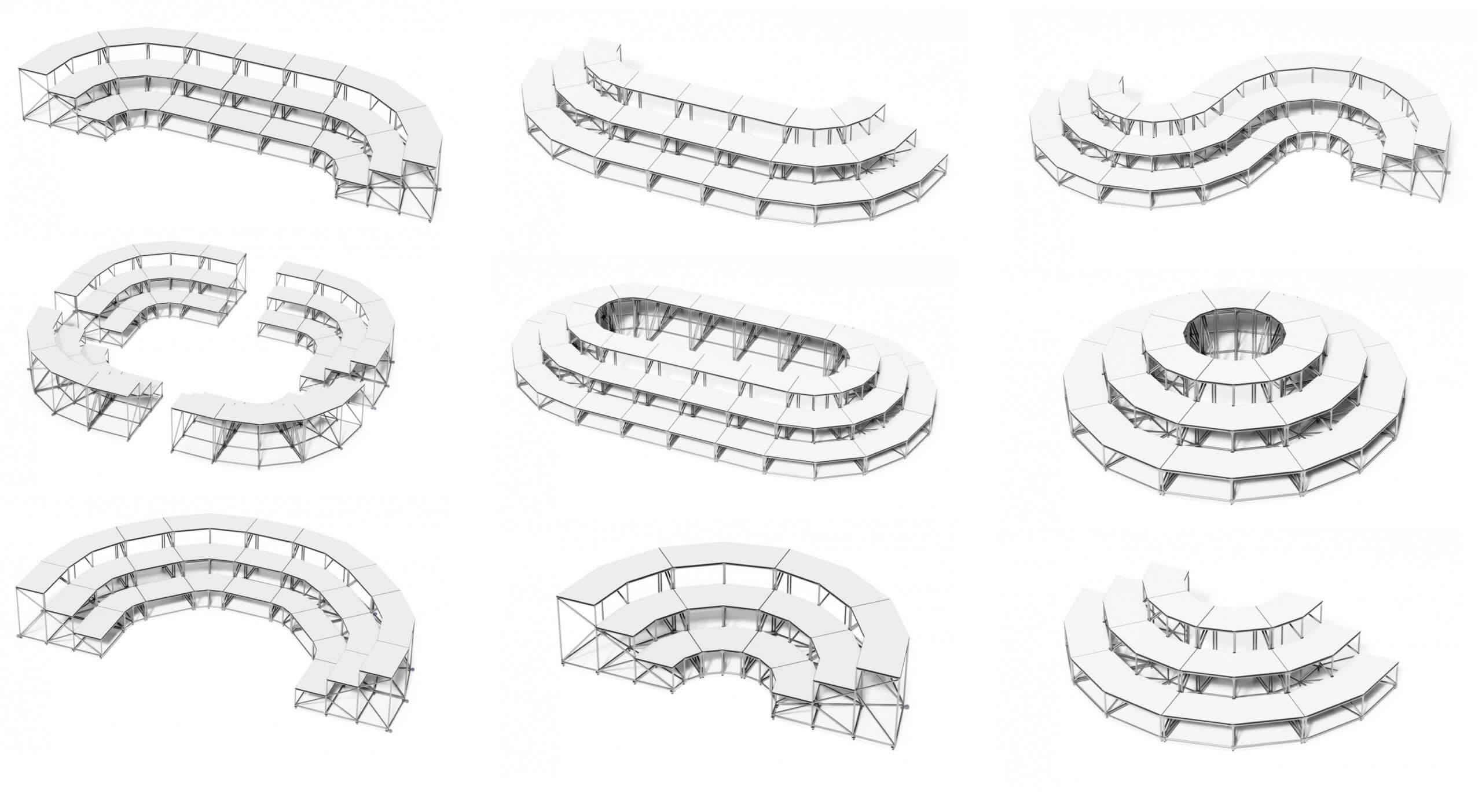 Gradins de coworking modulables et design SITUP