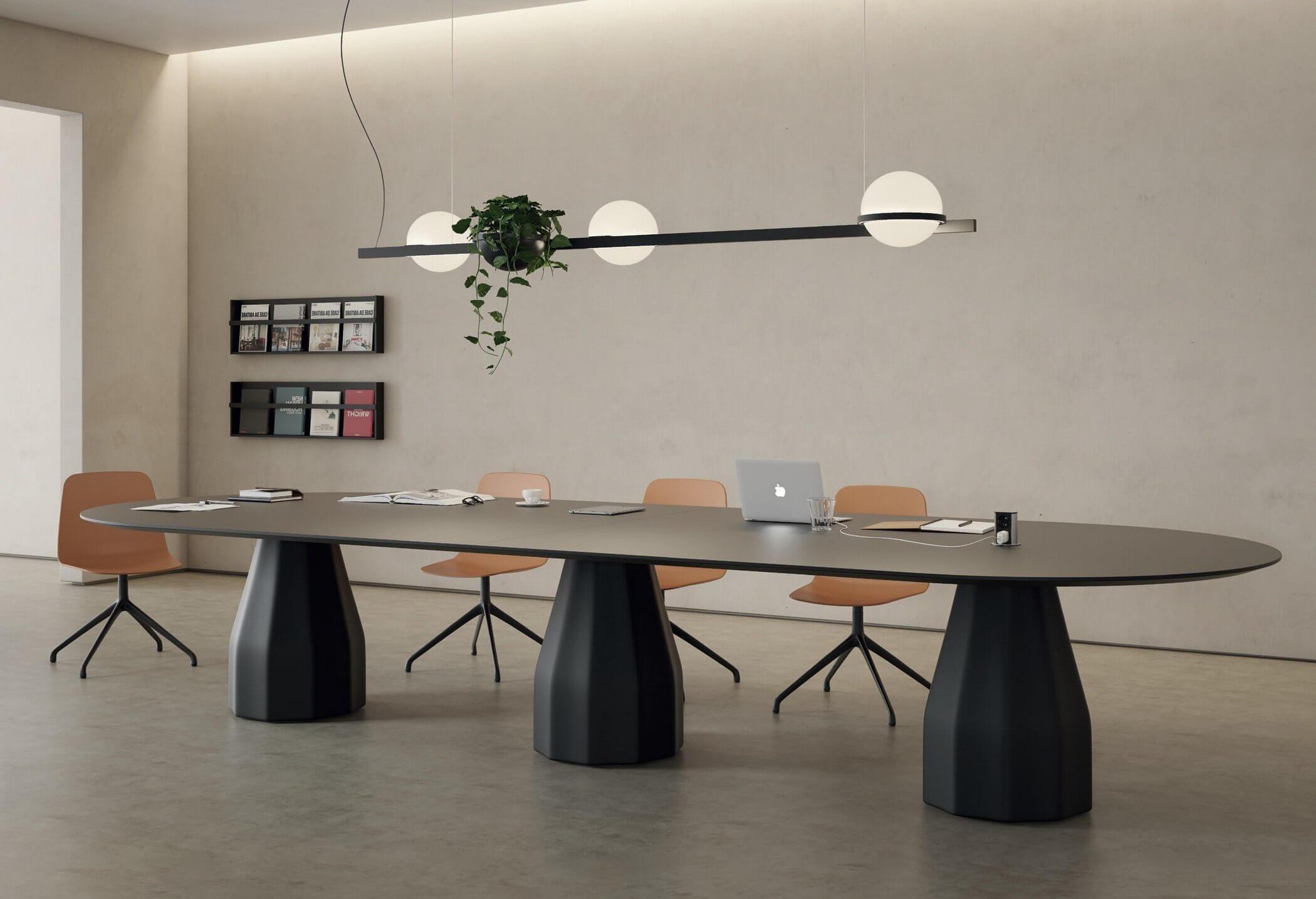 Grande table design pour salle de réunion BURIN.