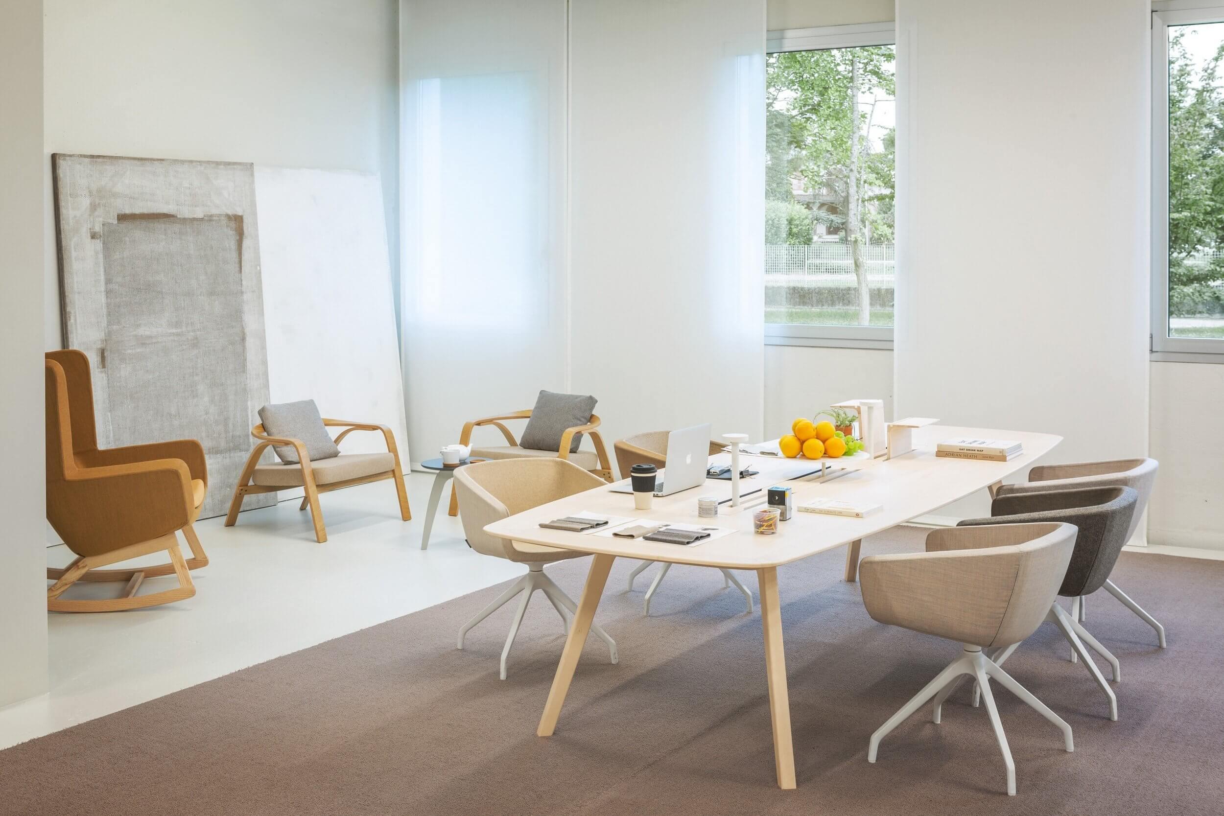 Table de réunion bois WISE