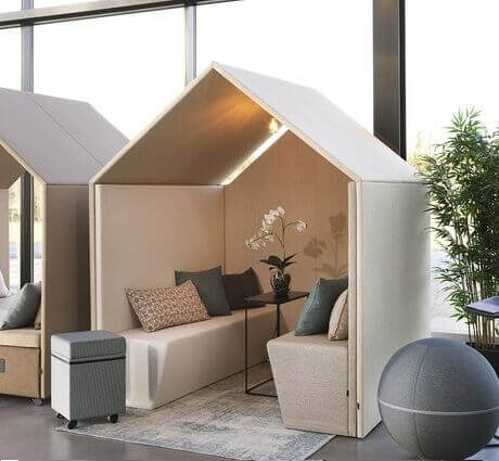 Box acoustique pour open space VILLAGE