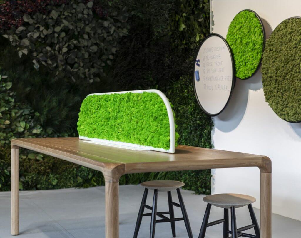 Mobilier acoustique végétal MOSS