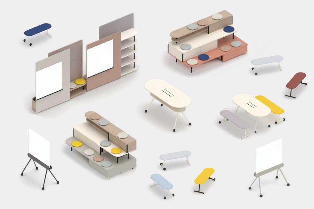 Mobilier pour espace de coworking agile