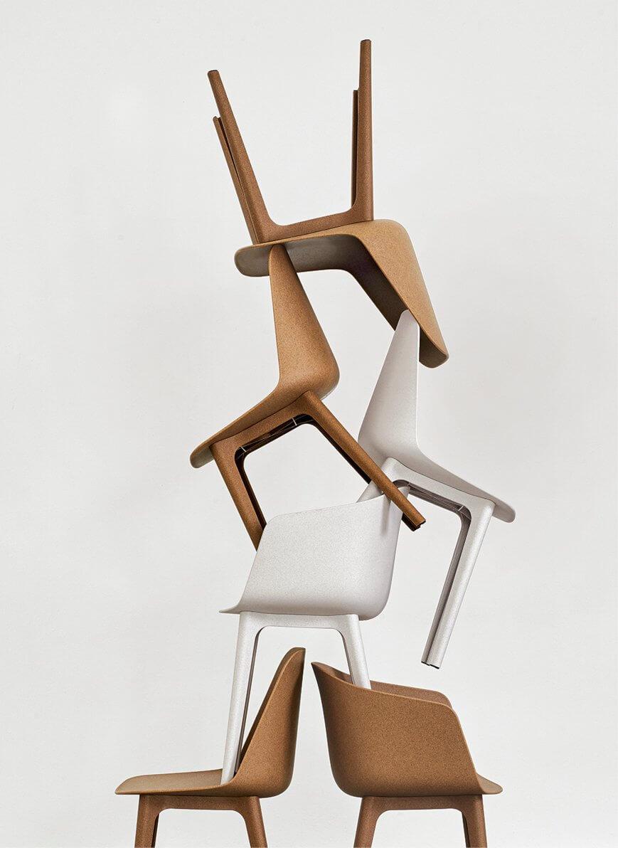 Chaise en plastique éco responsable