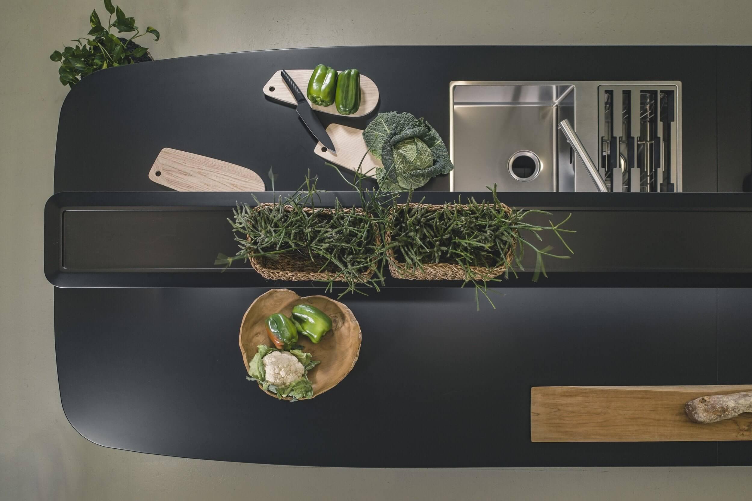 Mobilier de cafétéria design WING KITCHEN