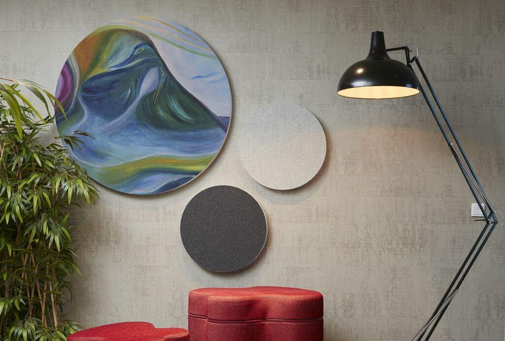 Décoration murale acoustique design