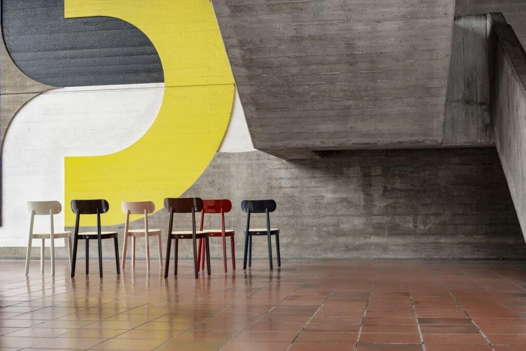 Chaise de cafétéria haut de gamme et design
