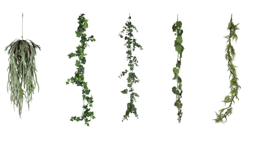 Plantes artificielles suspendues haut de gamme
