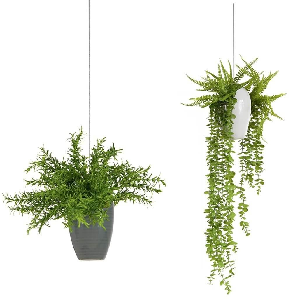 Fausses plantes suspendues pour la décoration des espaces