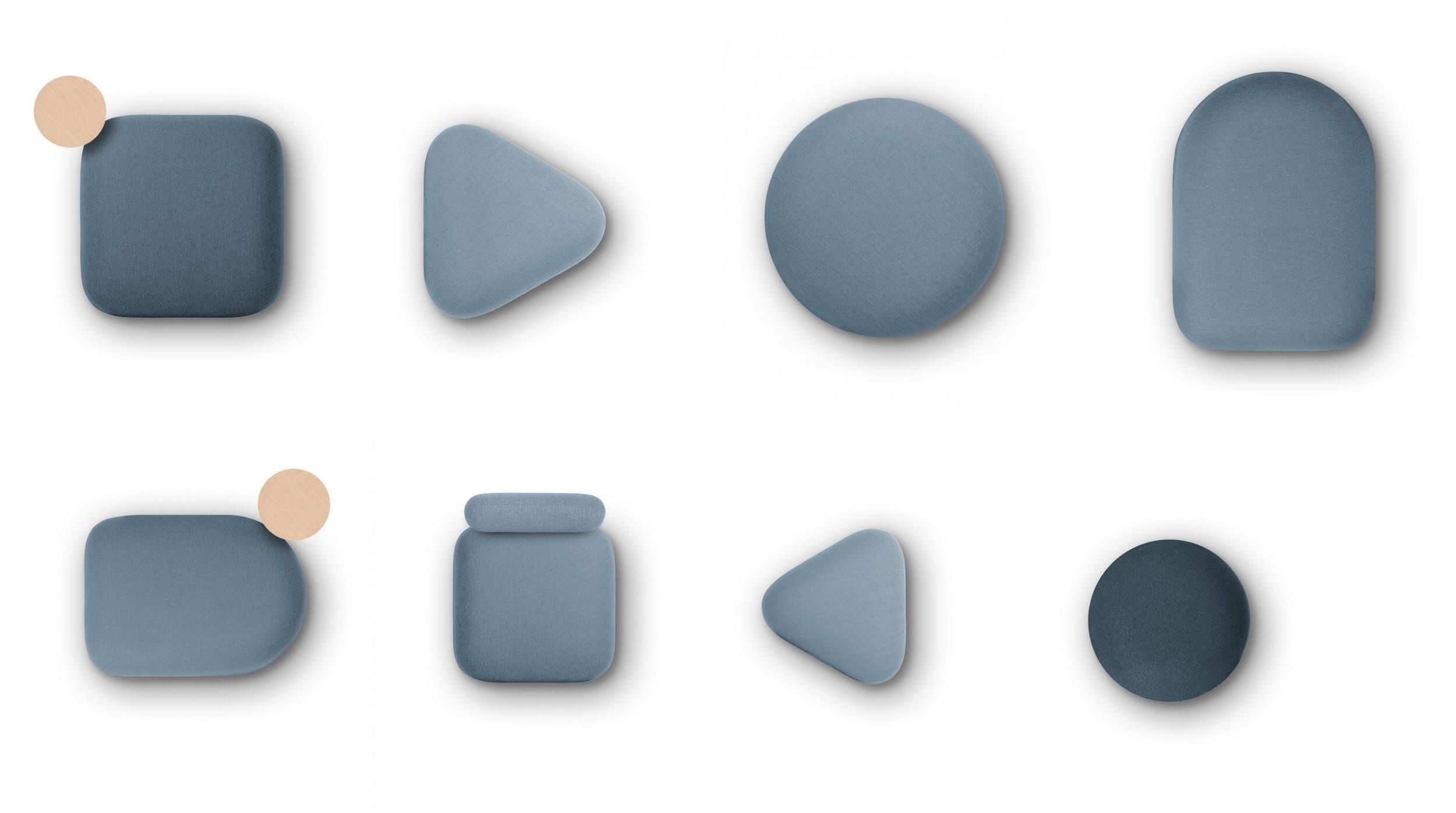 Poufs design petits et grands formats