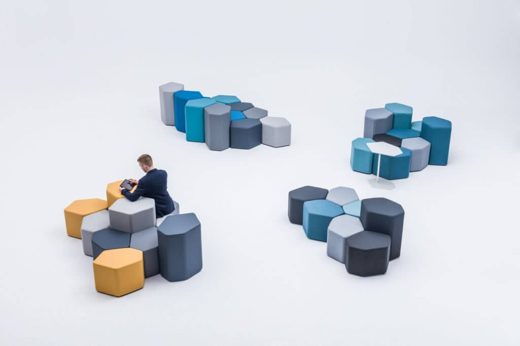 Poufs design modulables BAZALTE