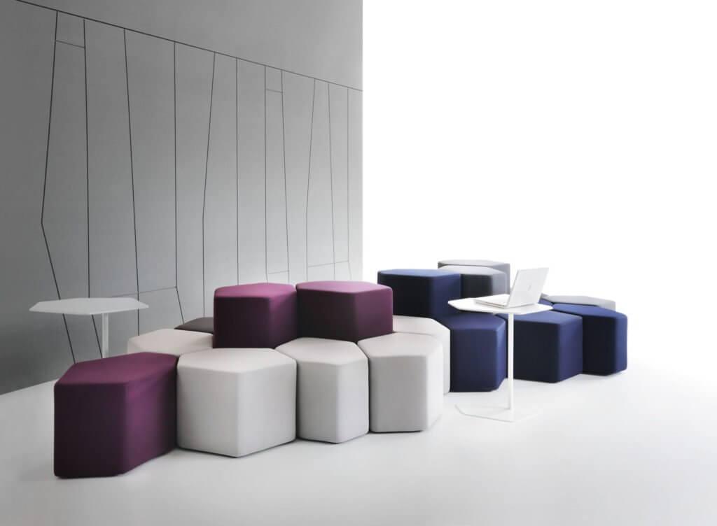 Mobilier collaboratif lounge BAZALTE