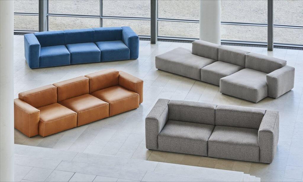 Canapé d'angle design modulable