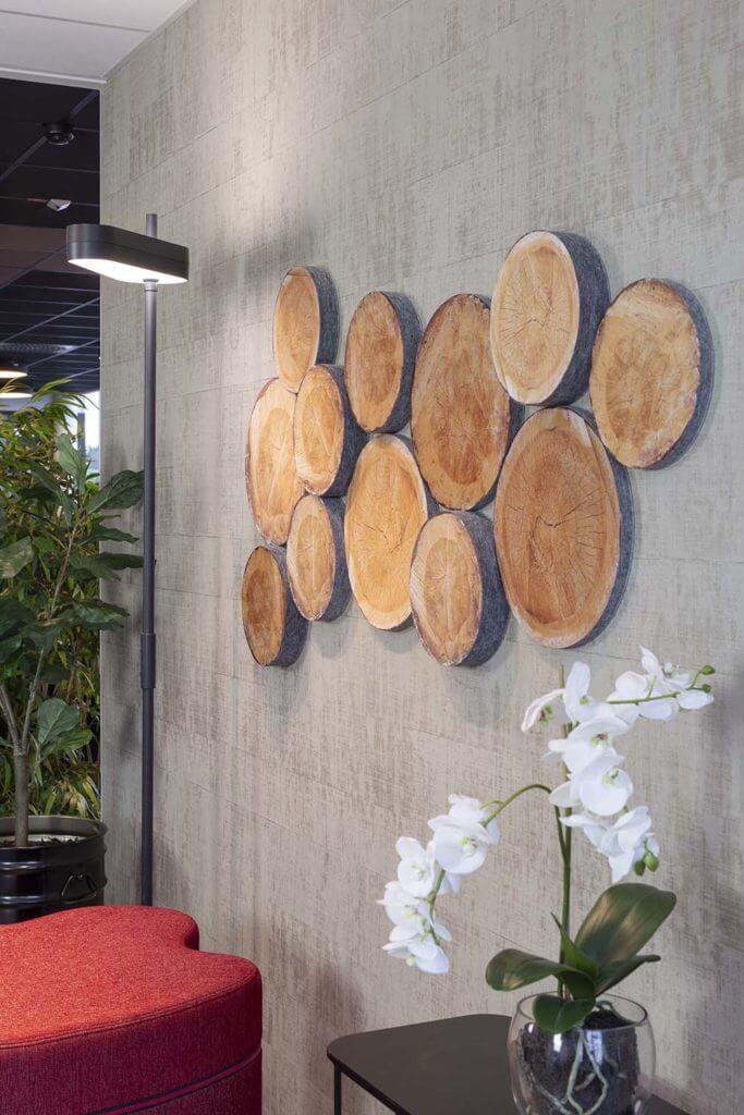 Mousse acoustique murale style bois