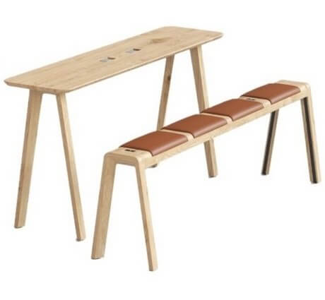 Table haute design en bois ECHO