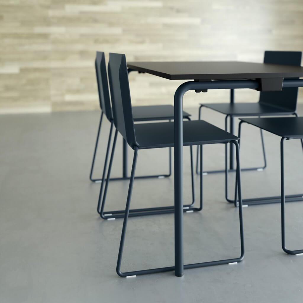 Table de réunion pliable noire