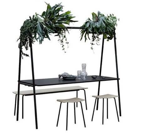 Table de coworking avec jardinière ARCHE